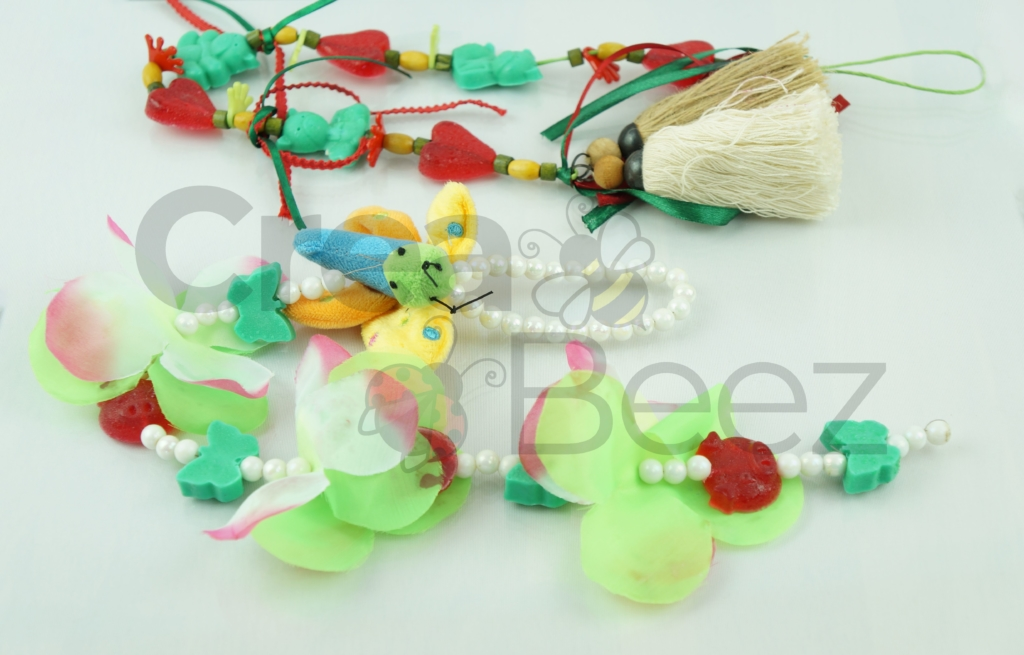 Kinderen zeepketting maken